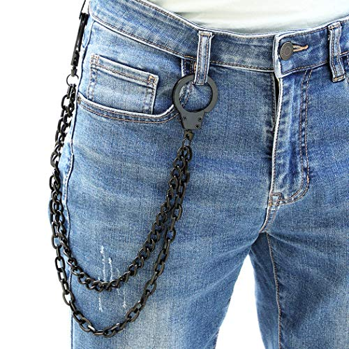 Zoylink Jeans Kette Hosen Schlüsselbund Multi Layer Hosen Kette Brieftasche Kette für Männer
