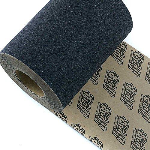 Powell Mini Logo co USA Enuff perforiert Skateboard Griptape Rolle, die ganz 22,9cm X 60ft Schwarz