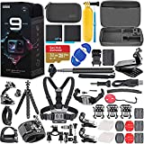 GoPro HERO9 Black with Hero 9 Action Accessory Bundle Kit Includes 2 Batteries, SanDisk Extreme 32GB microSDHC Memory Card, Floating Handle, Chest Mount + More!