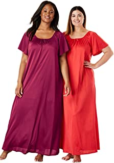 4f91750e40 Only Necessities Women s Plus Size 2-Pack Long Nightgown Set