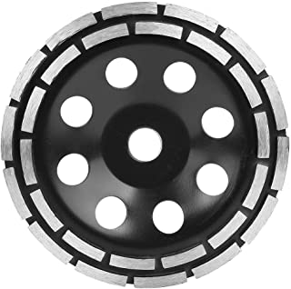 Black Diamond Double Row Grinding Wheel Saw Cutter Cutting Grinding Disc for Tiles Hard Floor Tiles Glazed Clinker Rocks(180mm)