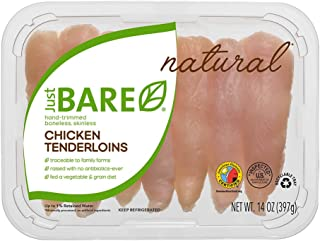 Just BARE All Natural Fresh Chicken, Hand-Trimmed, Boneless, Skinless Tenderloins, 0.88 lb