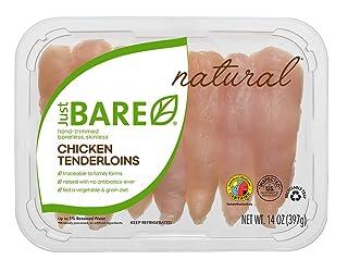 Just BARE All Natural Fresh Chicken, Hand-Trimmed, Boneless, Skinless Tenderloins, 0.88 lb