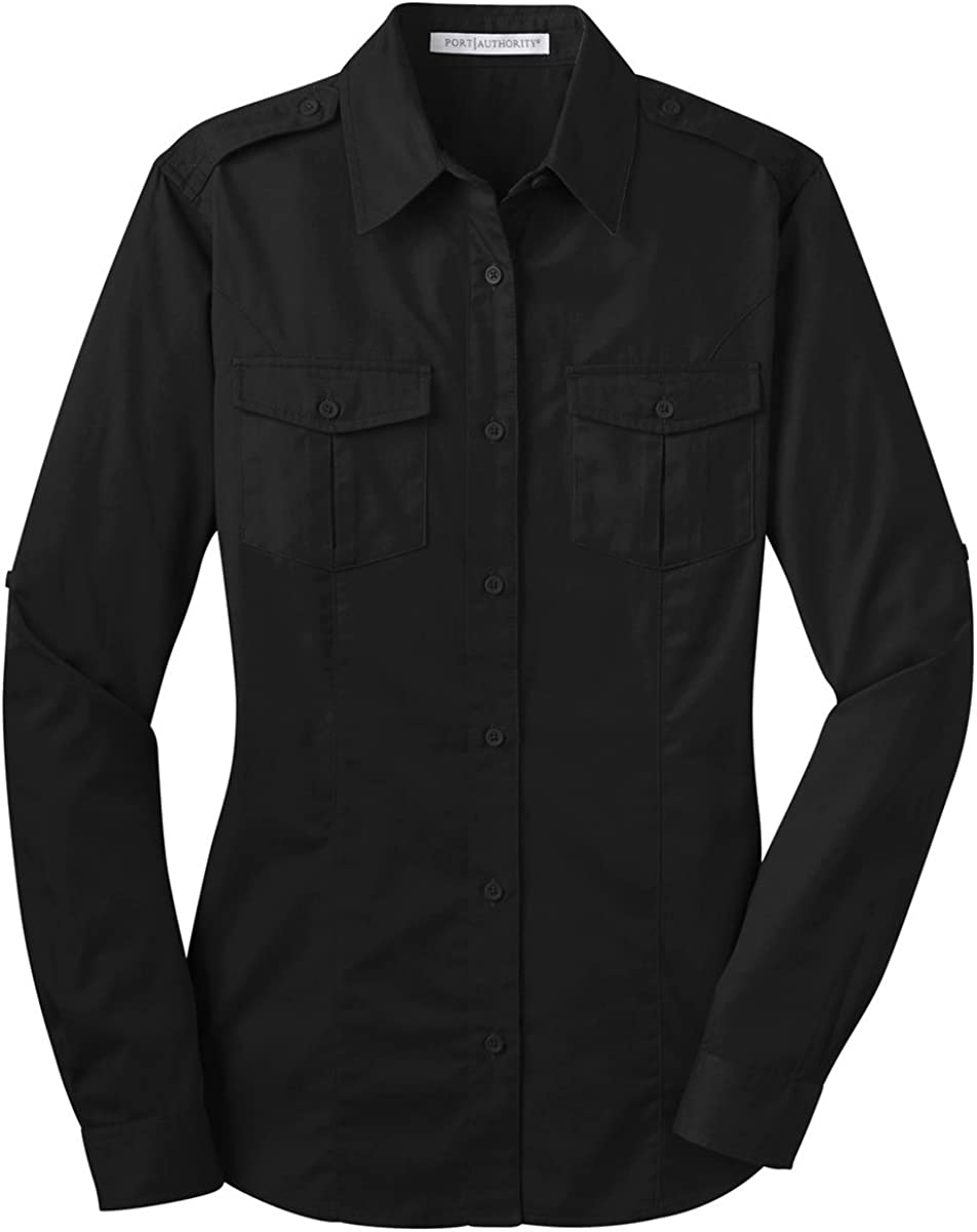 Port Authority Large special price Ladies Sale item Stain-Release Roll Sleeve Shirt. L64 Twill