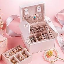 MU Boîte à Bijoux en Bois Solide de ménage boîte de Rangement Portable/Petite boîte de Finition de Bijoux de Voyage Maison...