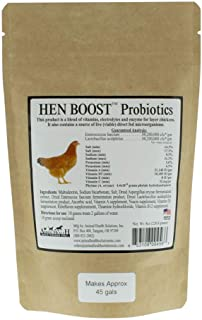 Animal Health Solutions - Hen Boost Probiotics, Help Boost Immunity & Hydration in Full Grown Chickens (8 oz)