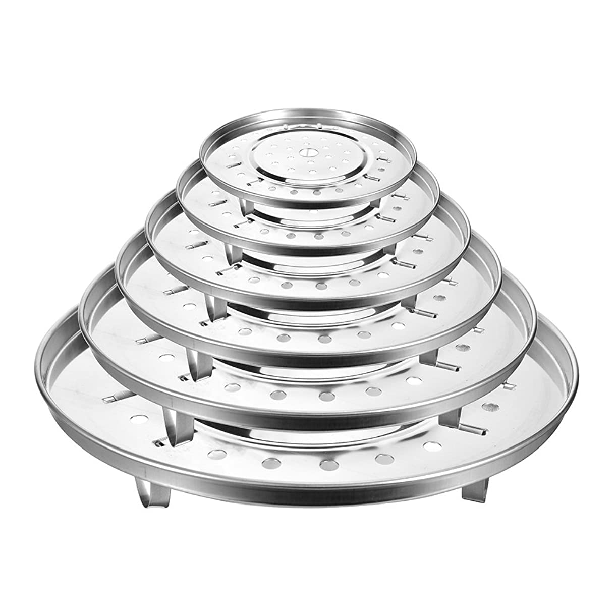 ブレース壊滅的な見て卓仕朗 ステンレス製 だんらん 鍋用 蒸し目皿 蒸し調理プレート20cm-30cm 6サイズ (F:30cm)