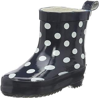 Playshoes Flickor gummistövlar nyckelpiga låga slip-on stövlar