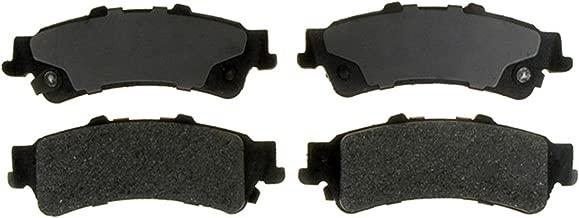 ACDelco 14D792M Advantage Semi-Metallic Rear Disc Brake Pad Set with Wear Sensor
