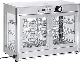 Ausla Affichage de Réchauffeur de Nourriture Présentoirs de Nourriture Food Warmer Display Vitrine Chauffante avec 2 Étagè...