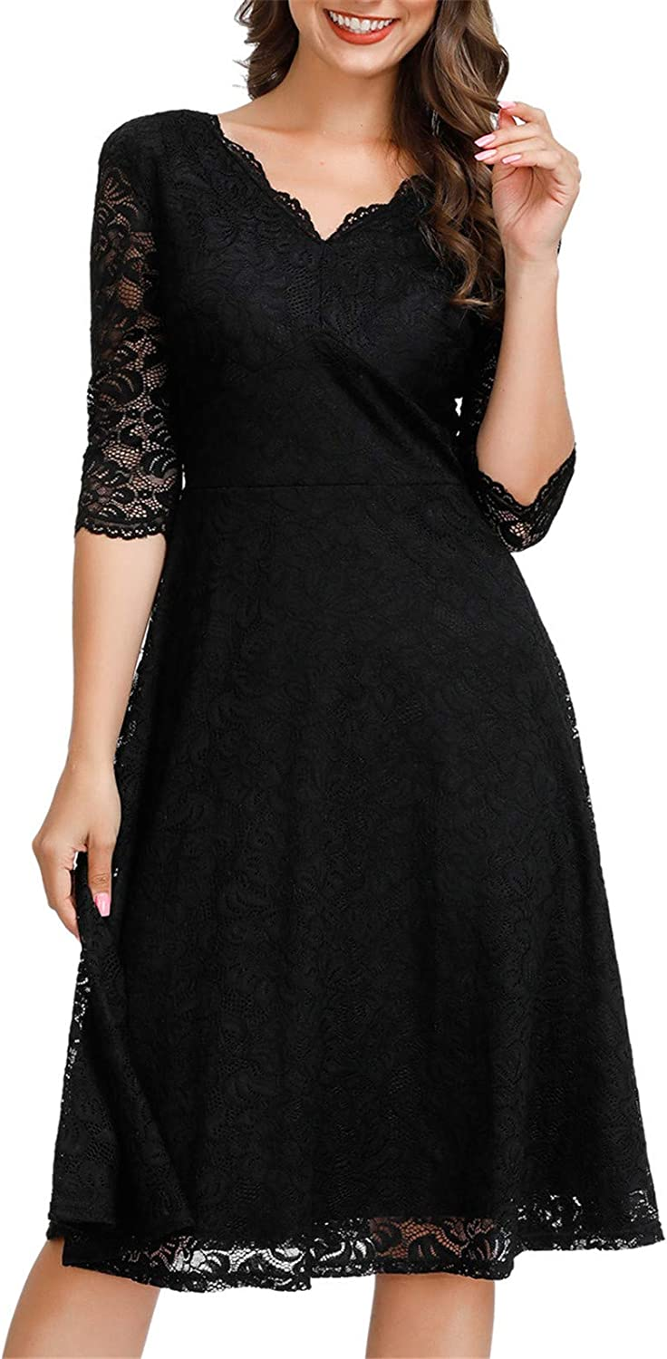 JASAMBAC A surprise price is realized Cocktail Dress for Women Max 55% OFF Lace Vintage Wedding Mid Guest