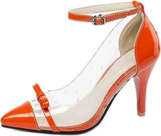 Zanpa Women Fashion Clear Pumps Ankle Strap
