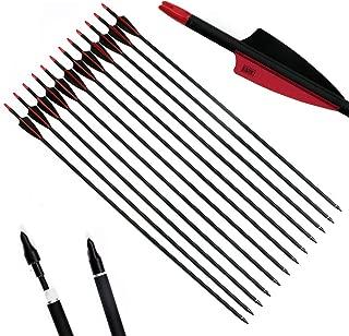 PG1ARCHERY 30 Inch Carbon Arrow Fletched 3