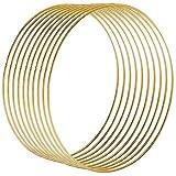 Celyoce 10 Stück 25cm Metallring Gold, Metall Ringe Hoops für Traumfänger Ring, Makramee Ring,...