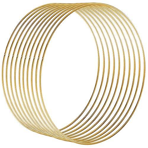 2er Set für Traumfänger ua Rayher schwarz silber gold 10-20 cm 2x Metall-Ringe