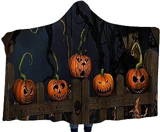 Halloween Children's Blanket Hooded Shawl Pumpkin Pattern Wear Cap Home Kids Blankets