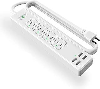Meross スマート電源タップ スマートプラグ Alexa/Google Home/IFTTT対応 個別スイッチ 4+4(AC差し込み口 +USBポート) 遠隔操作