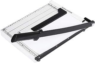 EZI Magnetic Guide A4 Size Paper Trimmer/Cutter Guillotine, Heavy Duty White Photo Paper Cutter Machine, 12 inch Cut Lengt...