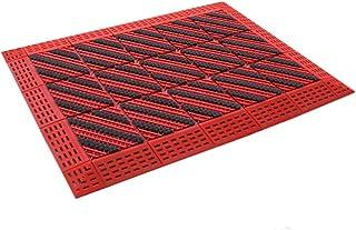 JIAJUAN Heavy Duty 3 Brush Doormat Interlocking Splicing Outdoor Durable Dirt Trapper Floor Mat Easy to Clean (Color : A, ...