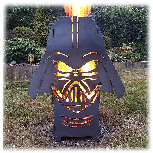 SpaceFire Feuersäule Feuerstelle Star Wars Darth Vader ähnlich mit Wunschtext