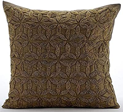 Amazon.com: Luxury Gold Euro Size Pillowcases 26x26 inch ...