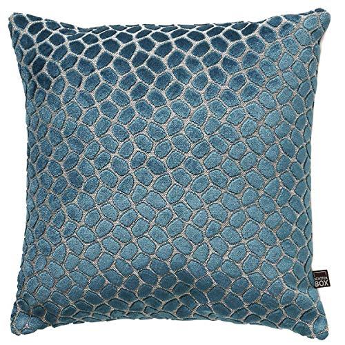 Scatter Box Lapis Velvet Feather Filled Cushion, Teal, 43 x 43 Cm