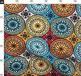 Rosette, Blumen, Grafisch, Folklore, Boho, Mandala Stoffe -
