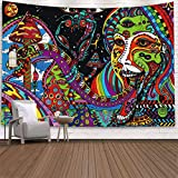 Trippy Tapestry Wall Hanging, Psychedelic Tapestry Surreal Abstract Hippie Tapestries for Dorm Bedroom Living Room Asthetic Room Decor, 51.2 X 59.1 Inches
