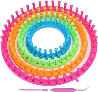 Atyhao Ensemble de métiers à Tricoter Ronds, métiers à Tisser en Plastique à Tricoter avec Aiguille à Tricoter à Tricoter ...