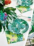 Talking Tables Tropical Fiesta, Pappteller mit Blattmotiv, grün, 23 cm (8 Stück in 1 Design) - 4