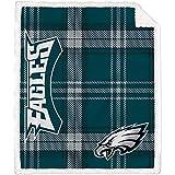 Pegasus Home Fashions Philadelphia Eagles 60'' x 70'' Plaid Ultra Fleece Sherpa Throw Blanket