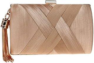 Shoulder Bag Women's Clutches Messenger Bag Cross-Body Bags Mini Shoulder Bag (Color : Pink) Handbag Clutch (Color : Gold)
