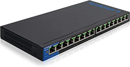 Linksys LGS116P Business 16-Port Network Switch - Unmanaged Gigabit Ethernet Switch with 8 PoE+ Ports
