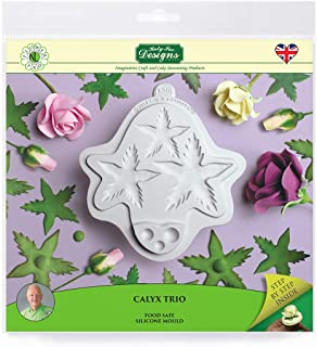 Flower Pro Calyx Trio Silicone Sugarpaste Icing Mold by Nicholas Lodge for Cake Decorating, Sugarcraft, Candies and Clay, Food Safe