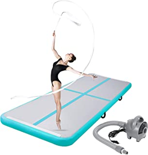 ChampionPlus 10ft 13ft 16ft 20ft Air Track Tumbling Mat Inflatable Gymnastics Mat 4/8 Inches Thickness Airtrack Mats for Home Training Cheerleading Yoga Water with Electric Air Pump
