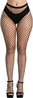 Lace Patterned Fishnet Stockings Thigh High Pantyhose...