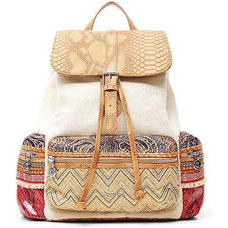 Desigual Womens Fabric Backpack MEDIUM, Brown