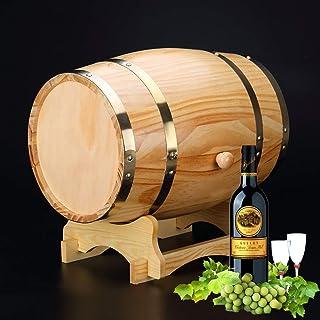 yunyu Baril de chêne américain, Table d'extrémité d'armoire de Bar en Bois de Baril, 1.5 / Support de vin décoratif, vieil...