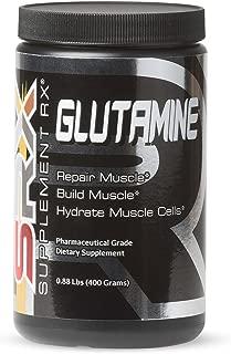 Supplement Rx (SRX) - Glutamine Powder, Pharmaceutical Grade, L-Glutamine Powder, Amino Acid, 400g