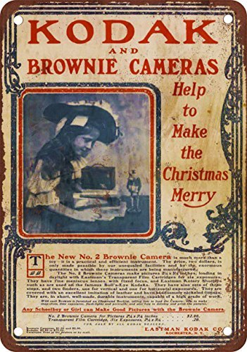 Kodak Brownie Cámaras Vintage Look Reproducción Metal Tin Cartel 8x12 pulgadas 2