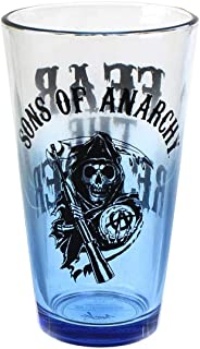 Sons Of Anarchy Reaper Blue Tint Pint Glass