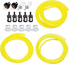 HUZTL 5 Feet 3 Sizes Fuel Line Hose with Snap in Primer Bulb, Primer Pouland Bulb, Fuel Filter Fit for Zama Stihl Poulan Weedeater Craftsman Husqvarna Trimmer Chainsaw Blower