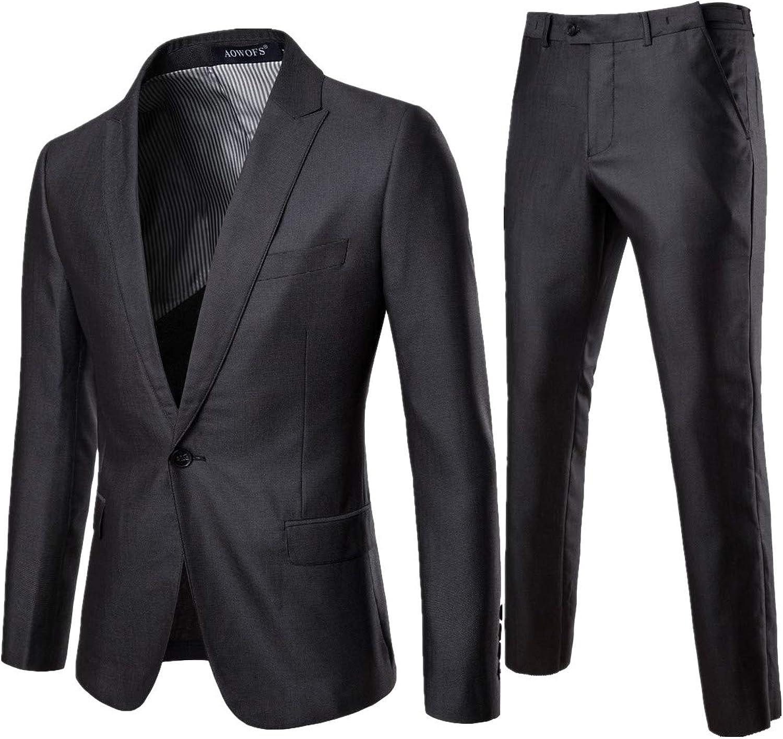 106275fda9 Gocgt Men's Long Long Long Sleeve Two Button Suits Slim Fit Party Dress  Suit Jacket Pants 5aa7fd