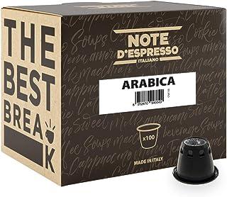comprar comparacion Note D'Espresso - Cápsulas de café arábica exclusivamente compatibles con cafeteras Nespresso*, 5,6g (caja de 100 unidades)