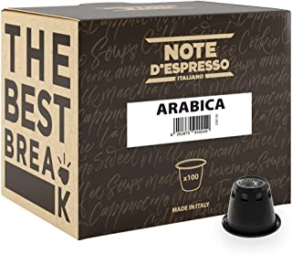 Note D'Espresso - Cápsulas de café arábica compatibles con cafeteras Nespresso, 5,6g (caja de 100 unidades)