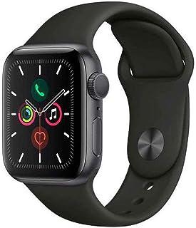Apple Watch Series 5 Gps, 40 mm, Alumínio Cinza Espacial, Pulseira Esportiva Preto e Fecho Clássico - Mwv82bz/a