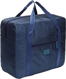 MeganStore Foldable travel storage bag portable (Navy Blue)