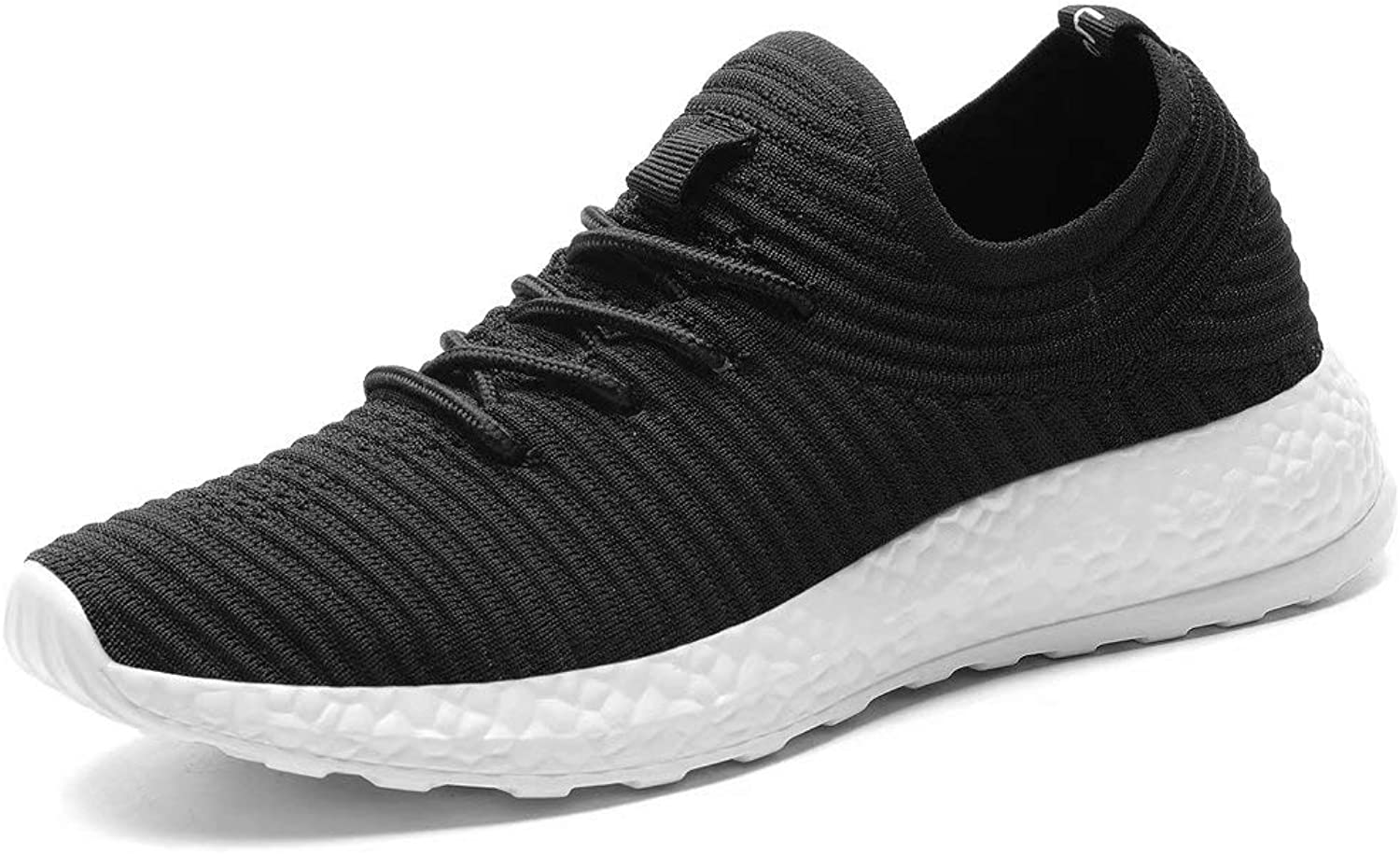 Konhill Women's Tennis Walking shoes - Lightweight Casual Athletic Sport Running Sneakers, Black, 37