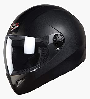 Steelbird SB-37 7Wings Full Face Helmet Dashing Black with Plain Visor Large 600 MM