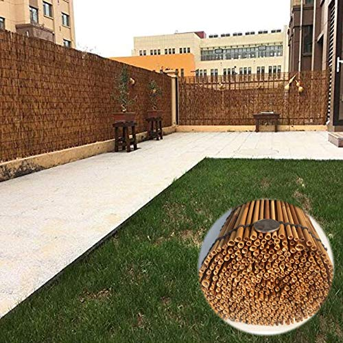 L-KCBTY Natural Persiana Bambu Exterior, Persiana Estor Enrollable De Bambú para Ventanas Y Puertas, con Aparato para Levantar, Térmico/Transpirables, Decoración Vintage Cortinas